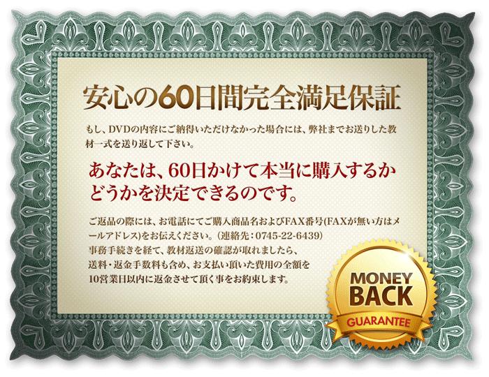 安心の60日間返金保証
